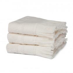 Handdoeken Seahorse Grace Cream Naturel