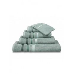 Handdoeken Van Dyck Prestige border vintage green