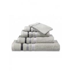 Handdoeken Van Dyck Prestige border steel grey