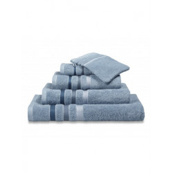 Handdoeken Van Dyck Prestige border dusty  blue