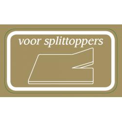 Splittopper  hoeslaken voor Toppermatras